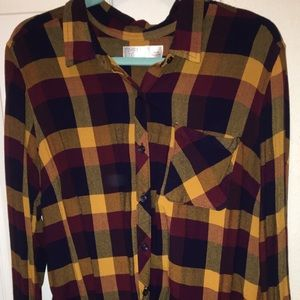 Tops - Flannel button down